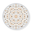 decorative plate with colored arabic ornament vector image vector image