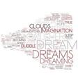 dream word cloud concept vector image vector image