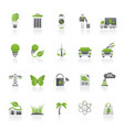 ecology environment and nature icons 1 vector image vector image