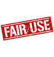 fair use square grunge stamp vector image vector image