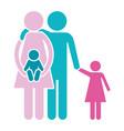 family pictogram cartoon vector image vector image