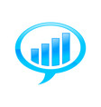 financial investment forum bubble talk blue vector image