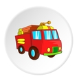 Fire truck icon cartoon style vector image vector image