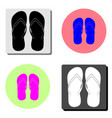 flip flops flat icon vector image vector image