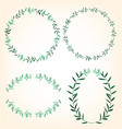 foliage border set vector image vector image