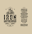 font iron brotherhood craft retro vintage typeface vector image vector image