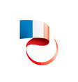 france flag on a white vector image vector image