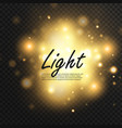 gold glow particles bokeh glitter effect burst vector image
