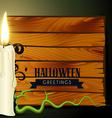halloween candle vector image