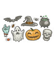 halloween symbol set holiday concept vector image vector image