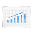 Hand Drawn Bar Graph vector image