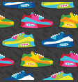 hand drawn cartoon style sneaker shoes vector image vector image