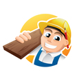 Happy carpenter vector image vector image