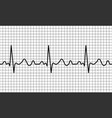 heartbeat icon ecg pathology trace vector image vector image