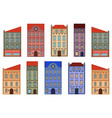 houses set different old european buildings vector image vector image