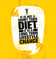 it is not short time diet it is a long term vector image