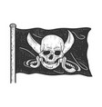 jolly roger pirate flag sketch vector image