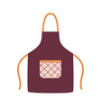 kitchen apron with pocket isolated on white vector image