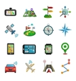 Location Flat Icon Set vector image vector image