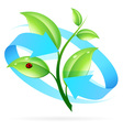 Logo Nature Recycle vector image vector image