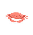 lovely crab cute sea creature character vector image vector image