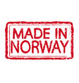 made in norway stamp text vector image vector image
