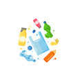 management concept separation garbage vector image vector image