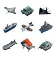 Military Equipment Isometric Set vector image vector image