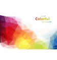 Modern colorful background vector image