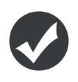 Monochrome round tick mark icon vector image vector image