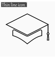 Mortar Board or Graduation Cap icon Style vector image