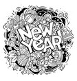 new year doodles objects and elements vector image vector image