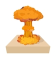 Nuclear explosion icon cartoon style vector image