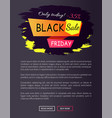 only today - 35 off black sale friday promo label vector image