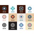 oriental geometric symbols vector image vector image