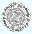 ornamental mandala circle lace ornament pattern vector image vector image