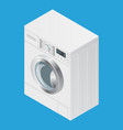 realistic detailed isometric 3d washing machine vector image