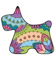 scottish terrier colorful silhouette vector image vector image