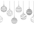 seamless decorative border from christmas ball vector image vector image