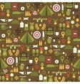 Seamless pattern of flat colorful military and war vector image vector image