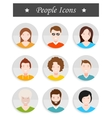Set of avatar in style flat design vector image vector image
