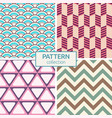 set of four color seamless patterns vector image