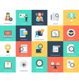 set of seo and marketing flat icons vector image vector image