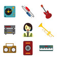 simple musical related graphic set vector image vector image