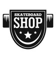 skateboard shop logo simple style vector image