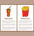 soft drink and french fries vector image
