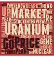 Speculators Could Drive Uranium to Pound text vector image vector image