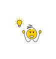stick figure stickman lightbulb - idea vector image