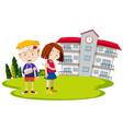 students injury at school vector image vector image