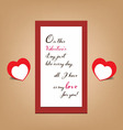 valentine greeting banner card vector image vector image